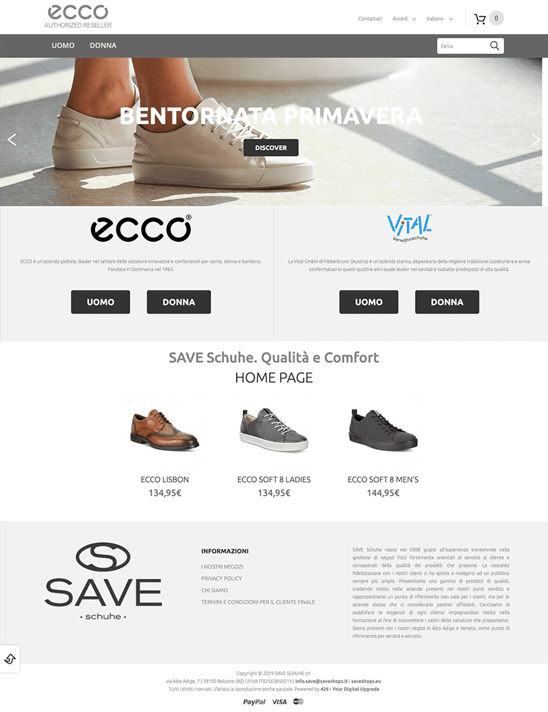 Save Shoes developed by 426 Agency